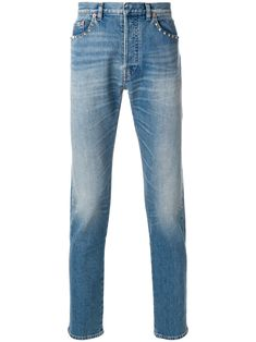 Valentino Stretch Cotton Denim Jeans In Blue My Jeans, Women Wear, Glamour, Mens Fashion, Couture, Legs, Stylish, Casual, Moda Masculina