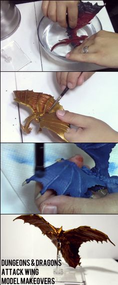 Check out how to do a proper make over on your D&D dragon! Geek Crafts, Resin Crafts, Craft Projects, Projects To Try, Fantasy Miniatures, Mini Paintings, Miniture Things, Deco, Dungeons And Dragons