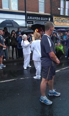 Torch hits the dizzy heights of Wallsend