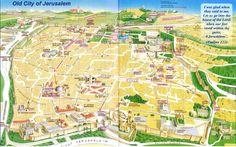 old city jerusalem map