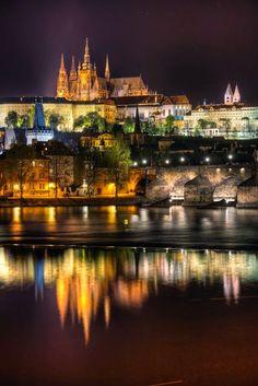 St. Vitus Cathedral reflection, Prague, Czech Republic - via Carlos Perez