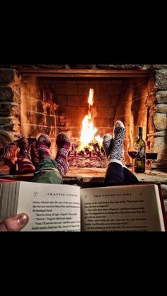 A book and a fire - all I need in the winter
