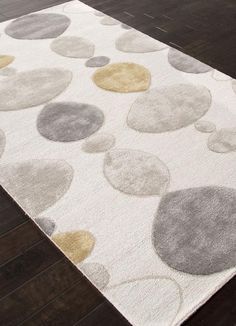 Jaipur Rugs RUG111807 Hand-Tufted Durable Wool/ Art Silk Ivory/Gray Area Rug ( 9x12 )