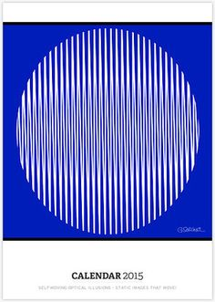 A NICE GIFT! Gianni A. Sarcone 2015 Wall Calendar: Self-Moving Optical Illusions - Static Images That Move!