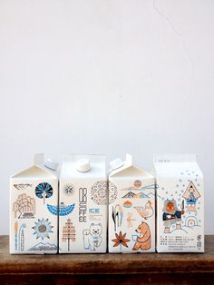 Forest Animal Packaging Illustration Design cute illustrations, love the carton idea Food Packaging Design, Bottle Packaging, Pretty Packaging, Packaging Design Inspiration, Brand Packaging, Graphic Design Inspiration, Branding Design, Coffee Packaging, Milk Packaging