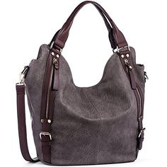 Buy Women Handbags Hobo Shoulder Bags Tote PU Leather Handbags Fashion Large Capacity Bags - Dark Drey - and More Fashion Bags at Affordable Prices. Hobo Purses, Hobo Handbags, Prada Handbags, Fashion Handbags, Purses And Handbags, Fashion Bags, Leather Handbags, Hobo Bags, Women's Bags