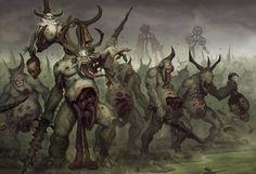 http://wellofeternitypl.blogspot.com Age of Sigmar Artwork | Plaguebearers of…
