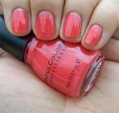 Boogie Nights electric coral summer shade by sinful colors