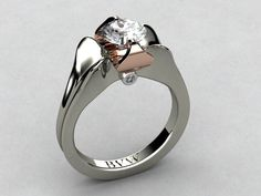 14kw and Rose Gold w/ Diamond Ring.  www.bvwdesigns.com