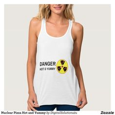 Nuclear Pizza Hot and Yummy Flowy Racerback Tank Top