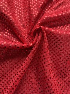 Red Designer Embroidered organza eyelet lace, Sold by the Yard, 54 inches wide Sequin Fabric, Eyelet Lace, Red Dots, Fabric Decor, Sequins, Yard, Trending Outfits, Handmade Gifts, Etsy