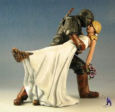 something like this would be awesome, haha  Geek Wedding Cake Toppers 1  Specialty Cake Toppers by Garden Ninja Studios