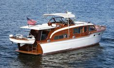Used 1953 Chris-Craft Flybridge Motor Yacht - Boat Trader Cabin Cruisers For Sale, Chris Craft Wooden Boats, Wooden Speed Boats, Classic Wooden Boats, Classic Boat, Yacht For Sale, Classic Yachts For Sale, Boat Restoration, Boat Projects
