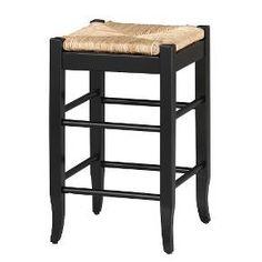 $53. Rush Seat Counter Stool Hardwood/Black - Boraam