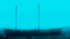 wreck of the Defiance  October 1854 in Lake Huron the wreck seems to be still completely intact
