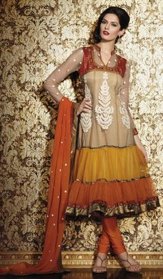 G3 fashions Rust Fawn Net Wedding Wear Designer Salwar Suit  Product Code : G3-LSA104453 Price : INR RS 4350