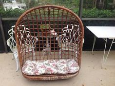 Would this hanging rattan chair be cray in my family room? Etsy!