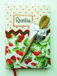 Caderno de Receitas + Imã #Moranguinho