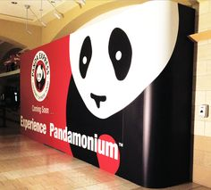 The doors in our barricades lie flush so they are not obvious to customers. #barricade #PandaExpress #cspdisplay