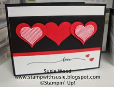 Stampin' Up!- A cute card for Valentines Day or a wedding using- 'Hello Life' & the Full Heart Punch!