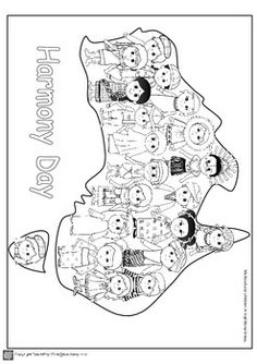 Harmony Day Teaching Resource Australia by TeachEzy Harmony Day Activities, Diversity Activities, Multicultural Activities, Teaching Activities, Teaching Resources, Toddler Preschool, Toddler Activities, Easy Coloring Pages, Anzac Day