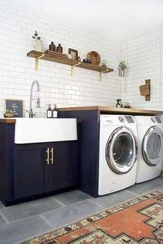 Modern Farmhouse Laundry Room Decor Ideas
