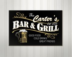 Personalized Beer Sign Bar and Grill Pub by SimplySublimeGifts, $59.95