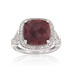 10.00 Carat Ruby and .30 ct. t.w. Diamond Ring In Sterling Silver. http://todaydeals.me/viewdetail.php?asin=B007VBQPIM