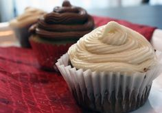 Vanilla and Chocolate Cupcakes (gluten-free, dairy-free)