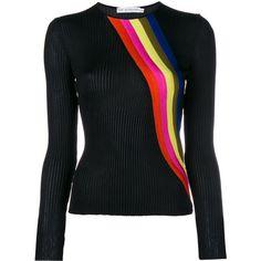 Mary Katrantzou Rainbow Striped Knit (12.851.415 VND) ❤ liked on Polyvore featuring mary katrantzou