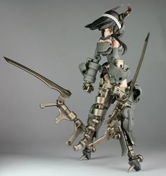 owner customized Frame Arms Girl Game Character Design, Character Concept, Concept Art, 3d Figures, Anime Figures, Robots Characters, Frame Arms Girl, Female Armor, War Machine