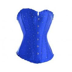 Blue diamante corset for queen frostine??? maybeee