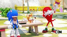 I'd love to shout SonAmy here like everyone else, but... The context just makes this funny, not shippy. XD