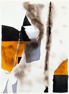 """Burhan Dogancay: """"Isle. 1974. Opaque watercolor and fumage on paper - Guggenheim Museum """""""