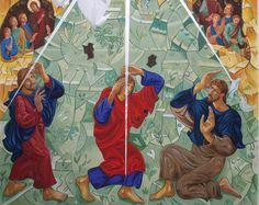 Detalhe do painel da Transfiguração, de 72 metros quadrados, Igreja Nossa Senhora do Amor, Univap, Sao José dos Campos SP