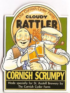 """SCRUMPY: """"Cloudy Rattler"""" from St Austell Brewery, St Austell, Cornwall.     ✫ღ⊰n"""