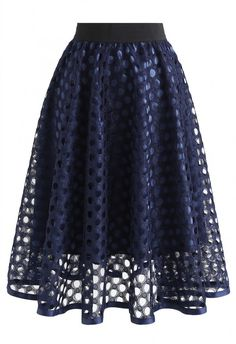 favorite Charming Honeycomb A-Line Midi Skirt in Navy - Skirt - BOTTOMS - Retro, Indie and Unique Fashion you can find similar pins below. Cute Skirts, A Line Skirts, Short Skirts, Cute Dresses, Skirt Outfits, Dress Skirt, Midi Skirt, Dress Up, Prom Dress