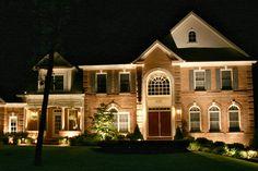 Image of: Exterior Porch Columns Lighting Outdoor Path Lighting, Porch Lighting, Exterior Lighting, Home Lighting, Lighting Ideas, Columns Decor, Porch Columns, Greek Revival Home, Best Interior Paint