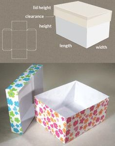 Completely custom sized template for a Box with lid. Completely custom sized template for a Box with lid. Diy Gift Box, Diy Box, Gift Boxes, Make Box, Craft Gifts, Diy Gifts, Diy Paper, Paper Crafts, Foam Crafts