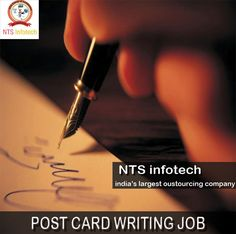 work from home and get a chance to earn money just by postcard  post card writing job please us ntsinfotech com