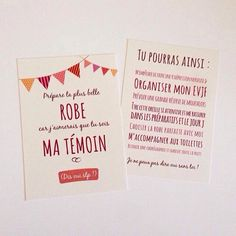 Carte pour témoins de mariage fille, demande : Faire-part par crea-graphic