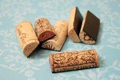 Corcho del vino Set de 6 los imanes ligero o por limefishshop