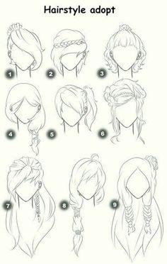 Drawing tutorial for beginners manga anime hair 30 Ideas – Drawing Tips Pelo Anime, Manga Anime, Anime Eyes, Ponytail Drawing, Girl Hair Drawing, Girl Drawings, Pencil Drawings, Pencil Sketching, Drawing Clothes