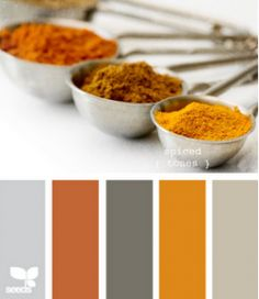 Really love this color scheme! The orange & gray is so different.