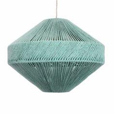 Contemporary hand-made British wool dip-dyed lighting. Cool Lighting, Lighting Design, Pendant Lighting, Jar Chandelier, Lighting Ideas, Handmade Lampshades, Geometric Star, Jar Lights, Diy Design