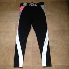 (M) VS Pink Watercolor Leggings Victoria's Secret Pink watercolor pastel ultimate leggings size medium, NWT. Sold out. NO TRADES!! PRICE IS FIRM ON HERE, CHEAPER ON Ⓜ️, ($50 shipped) PINK Victoria's Secret Pants Leggings