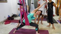 Gravotonics Yoga Swing!!!!!! Perfect for at-home aerial yoga. I need this to decompress my back. NEED. NEED. NEED. Only $120 from Amazon!!!!
