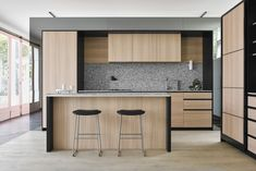 Just the right contemporary Kitchen furniture can make quite a difference both in comfort and eye appeal. See these kitchen furniture picks for ideas. Timber Kitchen, Kitchen Cupboards, Kitchen And Bath, Flack Studio, Interior Design Kitchen, Kitchen Furniture, Home Kitchens, Home Decor, York Street