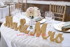 mr and mrs sweetheart table sign - Google Search