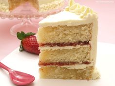 Layer cake de vainilla y fresa - MisThermorecetas.com